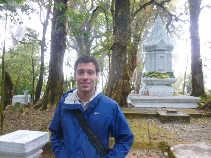 Me on top of Doi Inthanon, the tallest mountain in Thailand