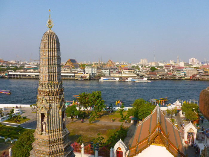 Looking east (across the river) from Wat Arun