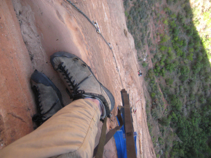 A ledge! I think this was one of the last adventures these shoes went on