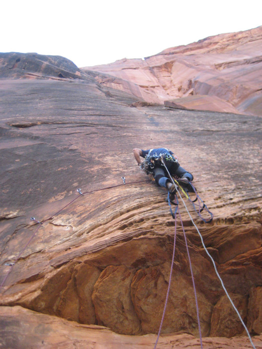 Mark on pitch 1. He lowered off when we arrived and then I started up.