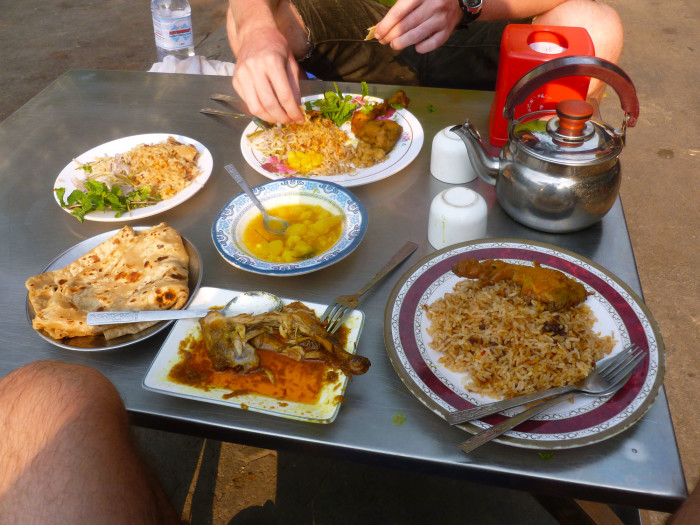 Some incredible Indian food on the street for just a few dollars each.
