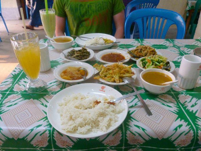 Some incredible Indian food for $2 each. Before I went to Myanmar, I kept hearing how high the prices were getting, but I think it's probably the cheapest country I've ever been to.
