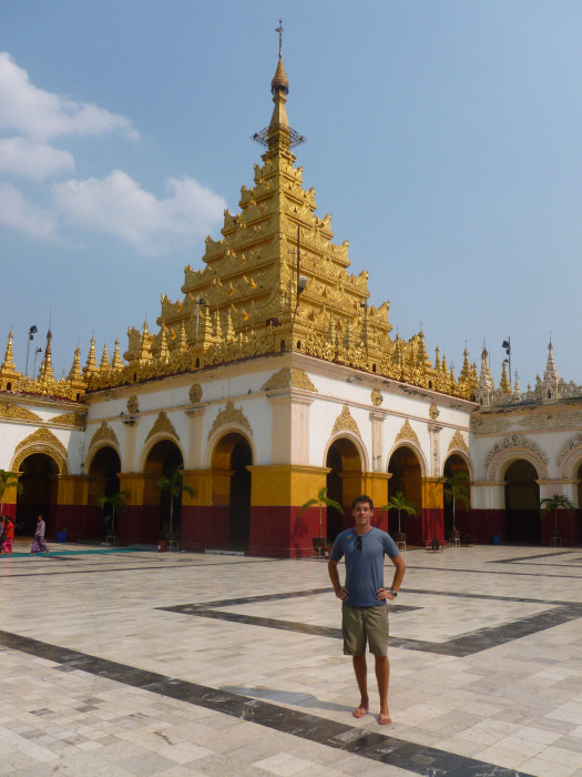 Me in front of Mahamuni Paya. That's where the big golden Buddha statue is