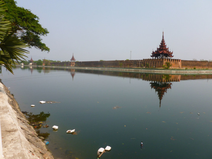 You know where the water was coming from? This moat. This nasty, nasty moat. If you can look past the trash, it was beautiful to look at, though. That could actually apply to most of SE Asia...