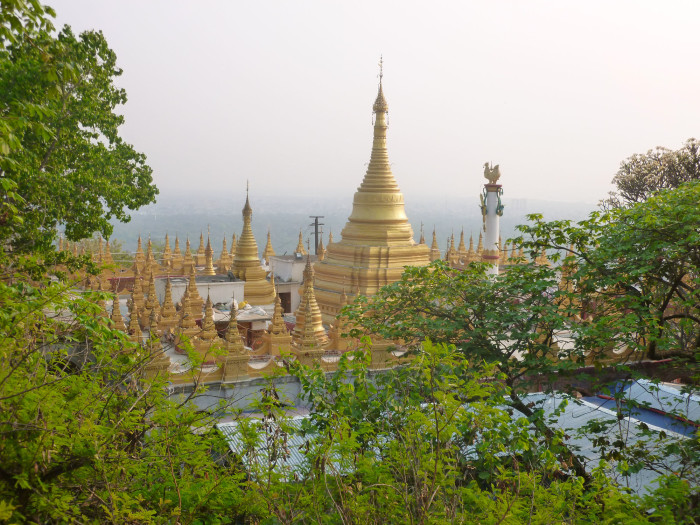 One of the temples near the top of Mandalay Hill.