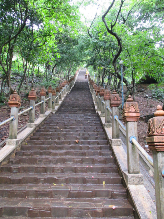The steps leading to the top of the Udong hill