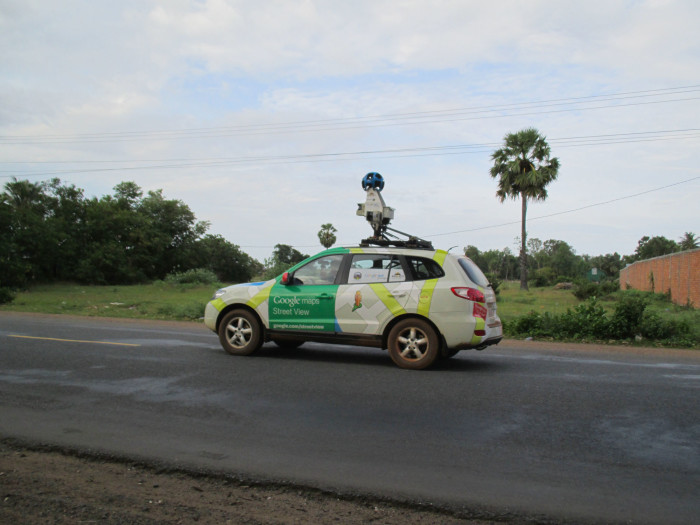 The Google Street View car was just about the last thing I expected to see in the middle of the Cambodian countryside.