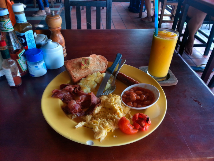The breakfast I ate almost every morning on Koh Tao.