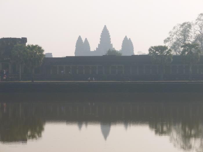 Angkor Wat through the haze