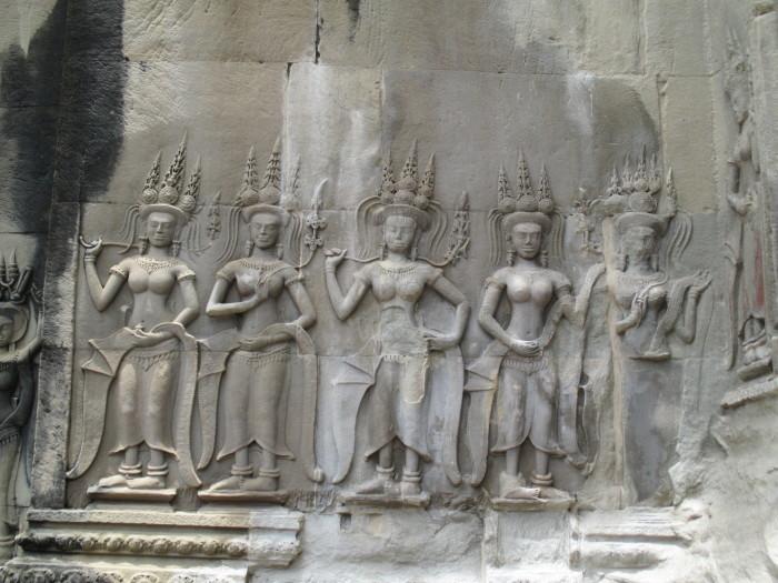 Carvings in Angkor Wat
