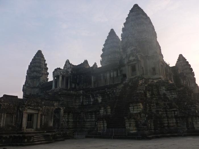 The main towers of Angkor Wat