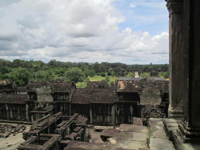 Looking out from Angkor Wat