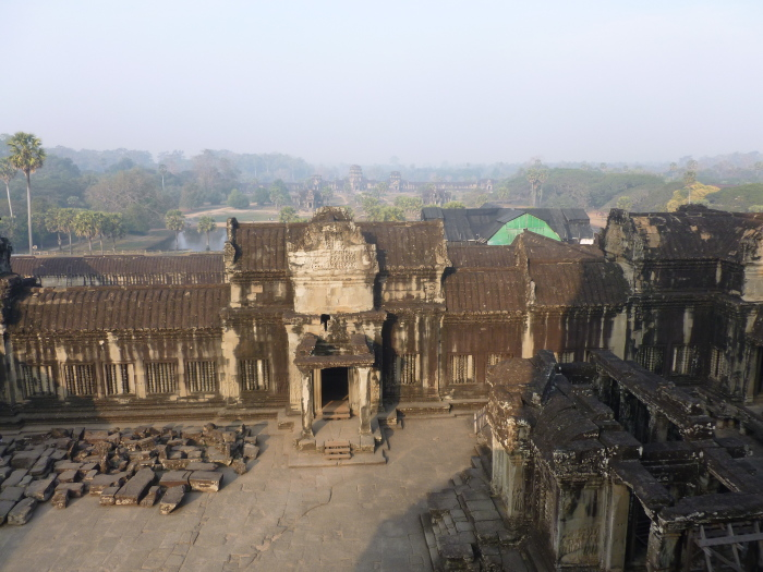 Looking out from Angkor Wat in the dry season