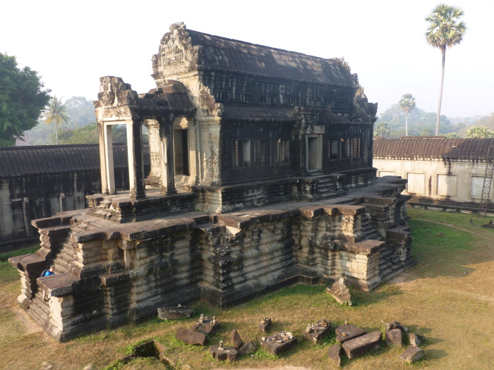 One of the smaller buildings inside the Angkor Wat complex