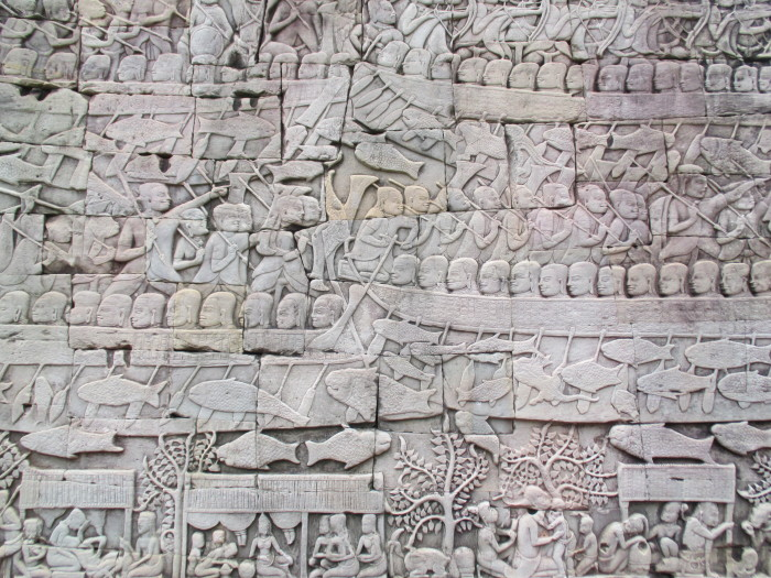 Really neat carved reliefs at Bayon