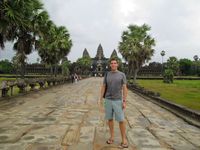 I went back and spent four more months in Cambodia later in the year. Here I am at Angkor Wat again.
