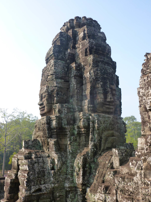 The faces at Bayon, one of the Angkorian temples