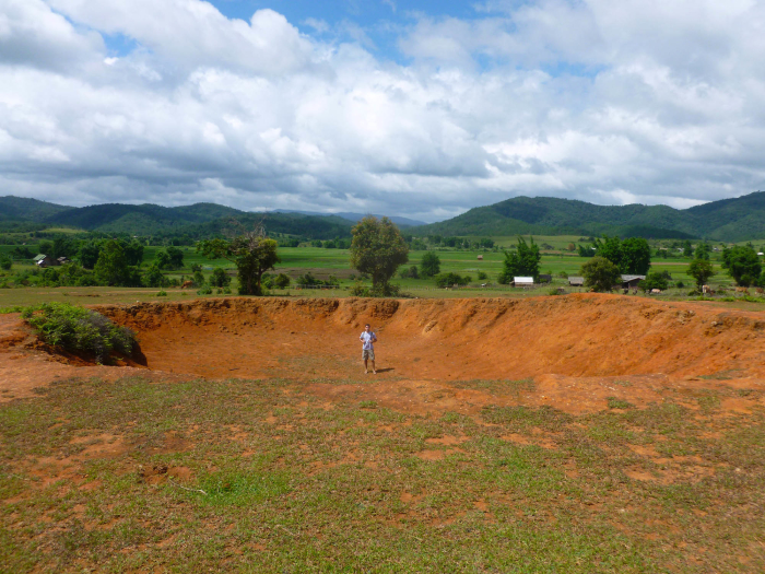 I spent a week in Laos and saw craters made from bombs that American planes dropped