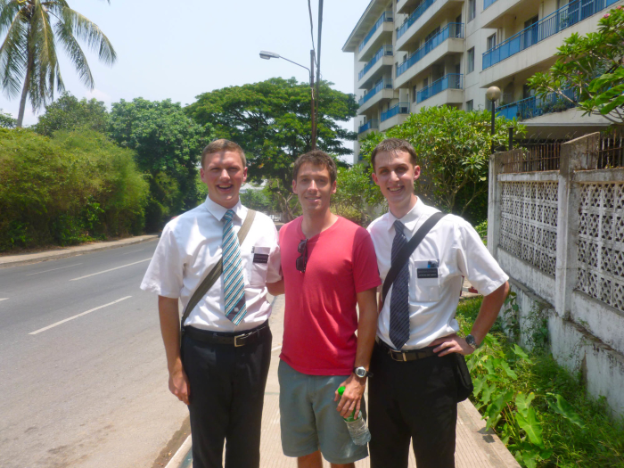 I ran into the first two Mormon missionaries in Myanmar and took them out to lunch