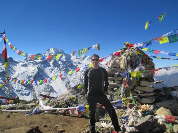 I climbed the 16,348 ft/4983 m Tserko Ri in Nepal