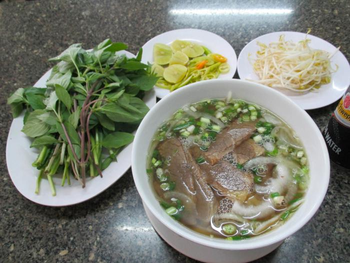 I ate pho in Vietnam