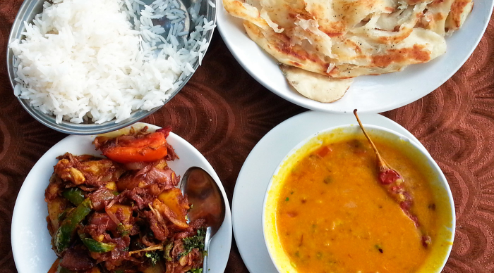 Tasty food in southern India