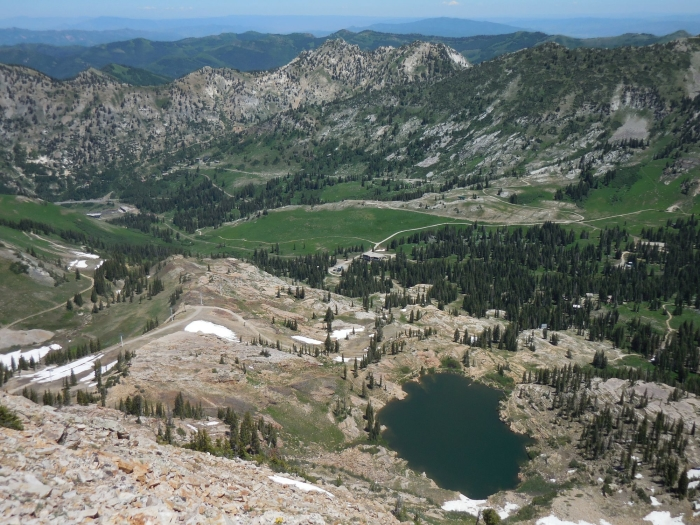 Cecret Lake from the top of Sugarloaf