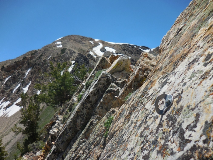 One of the bolts on the ridge
