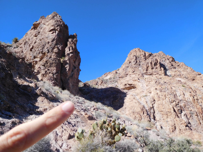 Pointing to where the trail goes