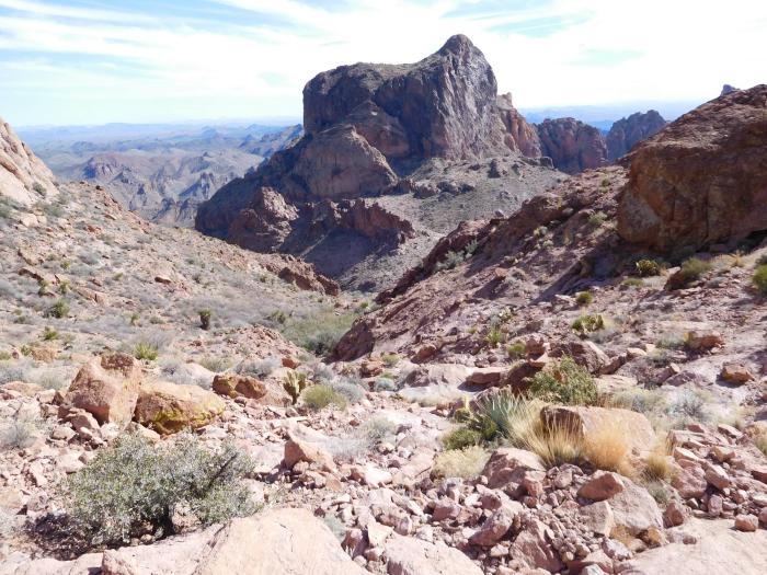Looking back toward Ten Ewe Peak