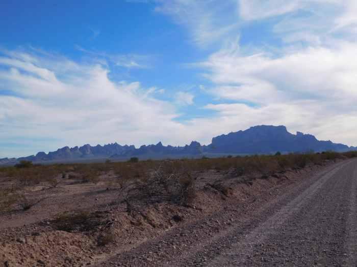 The Kofa Mountains from the road in.