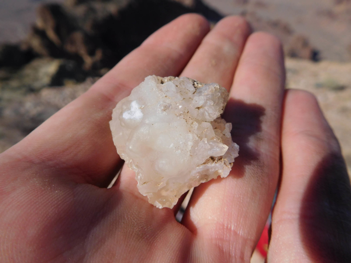 Some quartz crystals I found on top