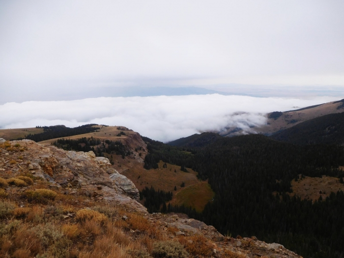 Looking down on the lower cloud layer