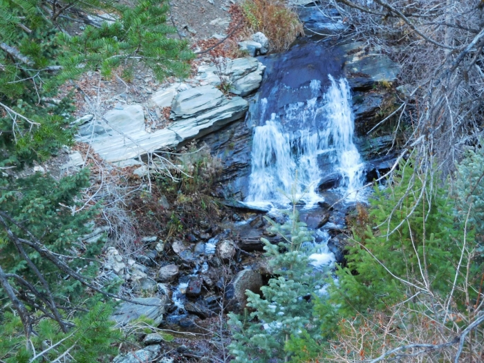 A little waterfall in Bair Canyon