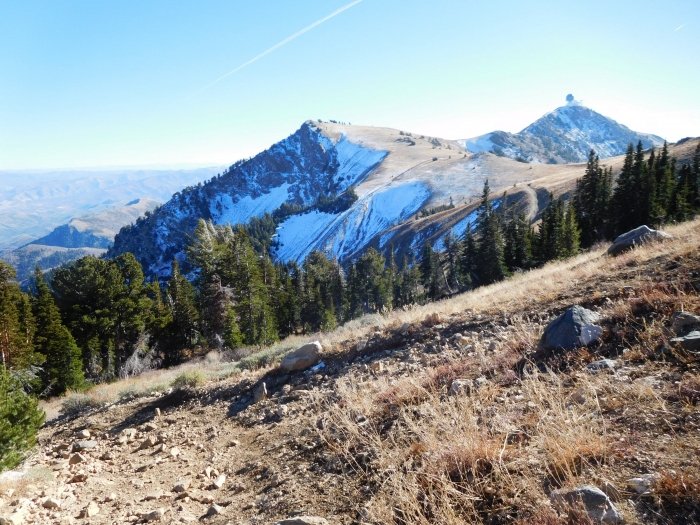 Francis Peak and snow